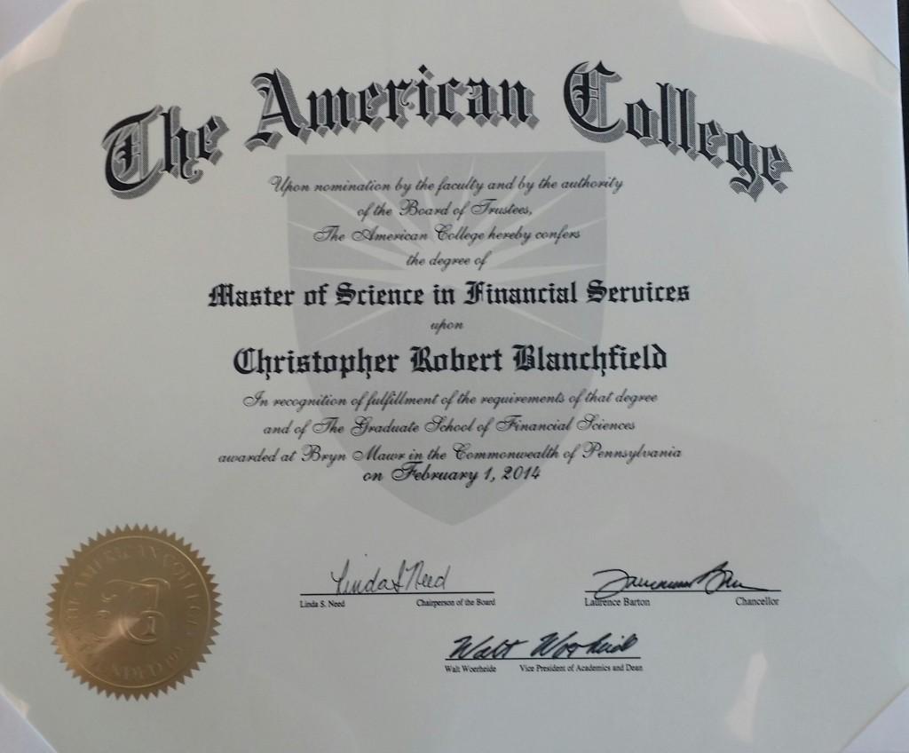 MSFS diploma